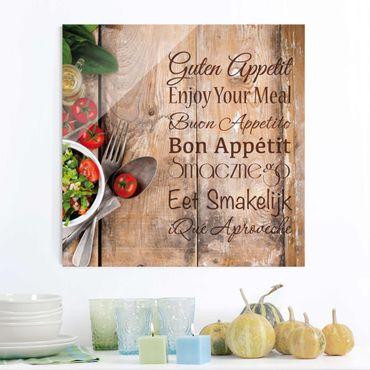 Quadro in vetro - Good Appetite - Quadrato 1:1