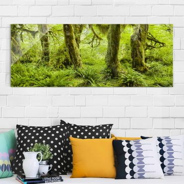 Quadro in vetro - Hall Of Mosses Olympic National Park - Panoramico