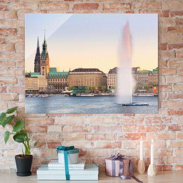Quadro su vetro - Alster lake in Hamburg - Orizzontale 4:3