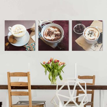 Quadro in vetro - Hot Chocolate With Cream - 3 parti