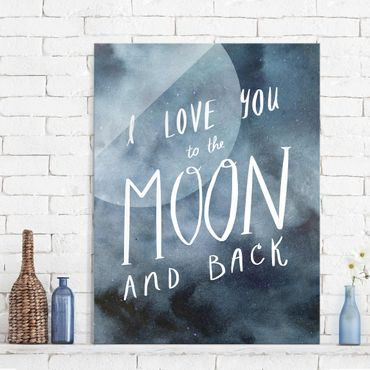 Quadro in vetro - Amore Celeste - Luna - Verticale 3:4