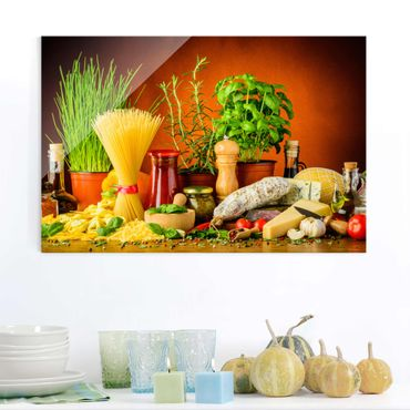 Quadro in vetro - Italian Kitchen - Orizzontale 3:2