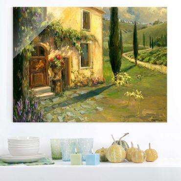 Quadro in vetro - Paesaggio Italiano - Cypress - Large 3:4
