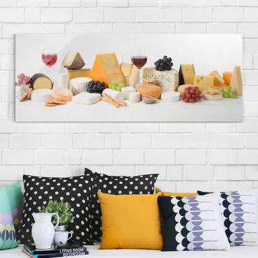 Quadro in vetro - Cheese Variations - Panoramico