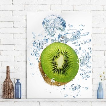 Quadro in vetro - Kiwi Bubbles - Verticale 3:4