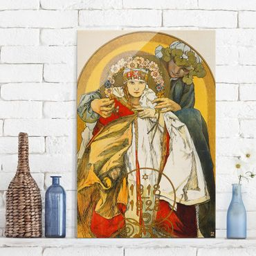 Quadro in vetro - Alfons Mucha - Poster for the 10th Anniversary of Independence of the Republic of Czechoslovakia - Verticale 2:3