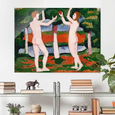 Quadro in vetro - August Macke - Adam and Eve - Orizzontale 4:3