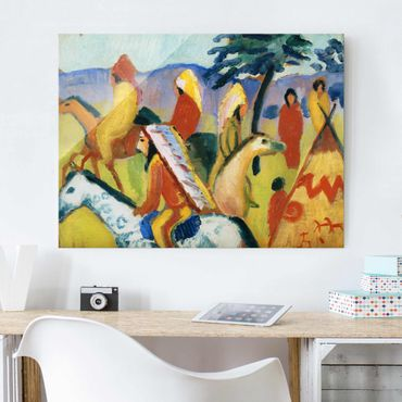 Quadro in vetro - August Macke - Riding Indians - Orizzontale 4:3