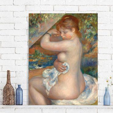 Quadro in vetro - Auguste Renoir - Bagnante - Impressionismo - Verticale 3:4