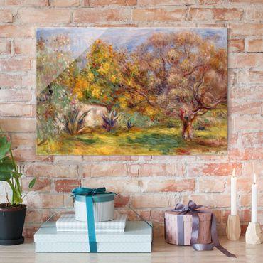 Quadro in vetro - Auguste Renoir - Oliveto - Impressionismo - Orizzontale 3:2