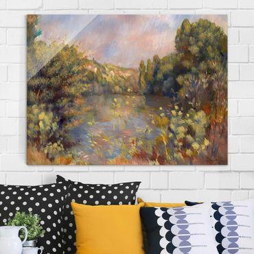 Quadro in vetro - Auguste Renoir - Paesaggio con un Lago - Impressionismo - Orizzontale 4:3