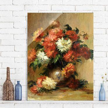 Quadro in vetro - Auguste Renoir - Natura morta con Dahlia - Impressionismo - Verticale 3:4