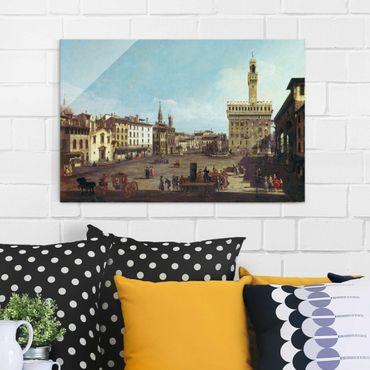 Quadro in vetro - Bernardo Bellotto - The Piazza della Signoria in Florence - Orizzontale 3:2