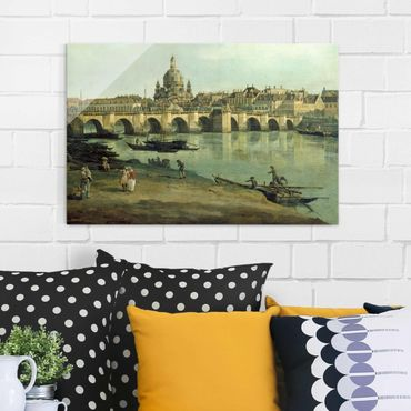 Quadro in vetro - Bernardo Bellotto - View of Dresden from the Right Bank of the Elbe with Augustus Bridge - Orizzontale 3:2
