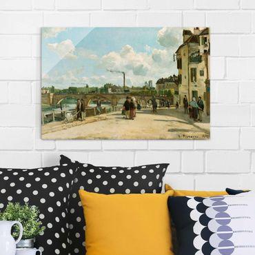 Quadro in vetro - Camille Pissarro - Vista di Pontoise, Quai du Pothuis - Impressionismo - Orizzontale 3:2