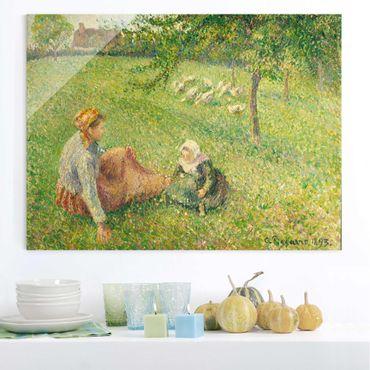 Quadro su vetro - Camille Pissarro - La ragazza delle oche - Impressionismo - Orizzontale 4:3