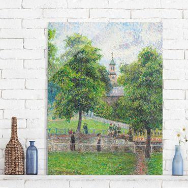 Quadro in vetro - Camille Pissarro - Chiesa di Sant'Anna, Kew, Londra - Impressionismo - Verticale 3:4