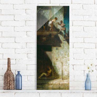 Quadro in vetro - Carl Spitzweg - Pierrot and Columbine - Pannello