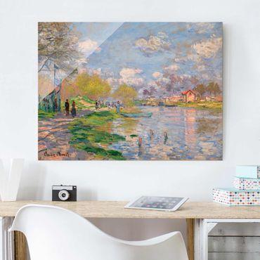 Quadro in vetro - Claude Monet - Primavera sulla Senna - Impressionismo - Orizzontale 4:3