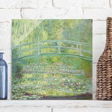 Quadro su vetro - Claude Monet - Laghetto e il Ponte Giapponese - Impressionismo - Quadrato 1:1