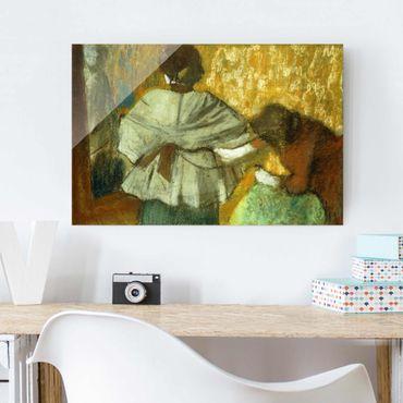 Quadro in vetro - Edgar Degas - Quando Sarta - Impressionismo - Orizzontale 3:2