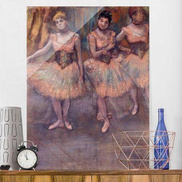 Quadro in vetro - Edgar Degas - Tre Ballerine prima di Esercizio - Impressionismo - Verticale 3:4