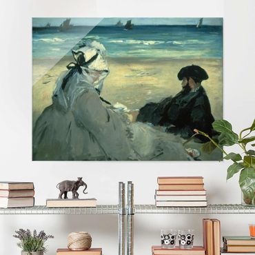 Quadro in vetro - Edouard Manet - On the Beach - Orizzontale 4:3
