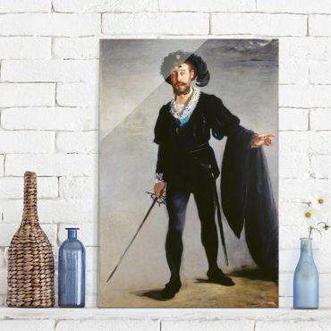 Quadro su vetro - Edouard Manet - Jean-Baptiste Faure in the Role of Hamlet - Verticale 2:3