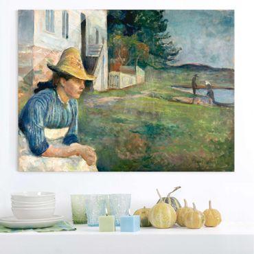 Quadro in vetro - Edvard Munch - Sera - Espressionismo - Orizzontale 4:3