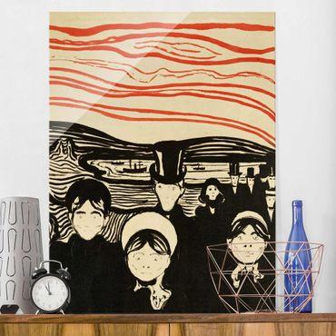 Quadro in vetro - Edvard Munch - Ansia - Espressionismo - Verticale 3:4
