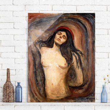 Quadro in vetro - Edvard Munch - Madonna - Espressionismo - Verticale 3:4