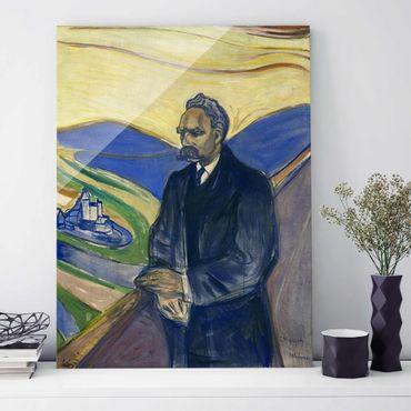 Quadro in vetro - Edvard Munch - Ritratto di Friedrich Nietzsche - Espressionismo - Verticale 3:4