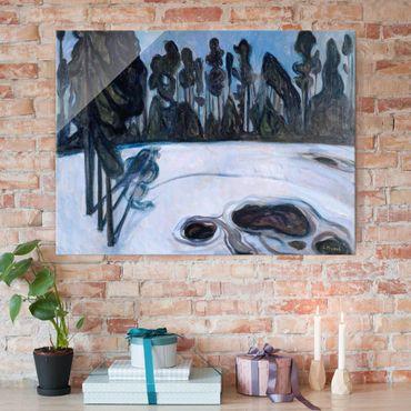 Quadro in vetro - Edvard Munch - Notte delle Stelle - Espressionismo - Orizzontale 4:3