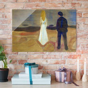 Quadro in vetro - Edvard Munch - Due persone. Solitario (Reinhardt-Fries) - Espressionismo - Orizzontale 3:2