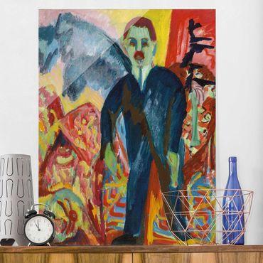 Quadro su vetro - Ernst Ludwig Kirchner - The Hospital Attendant - Verticale 3:4