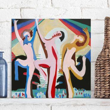 Quadro in vetro - Ernst Ludwig Kirchner - Color Dance - Quadrato 1:1