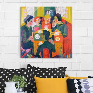 Quadro in vetro - Ernst Ludwig Kirchner - Coffee Table - Quadrato 1:1