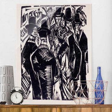 Quadro in vetro - Ernst Ludwig Kirchner - Street Scene: In Front of a Shop Window - Verticale 3:4