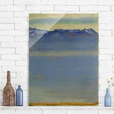 Quadro su vetro - Ferdinand Hodler - Lake Geneva with Savoyer Alps - Verticale 3:4