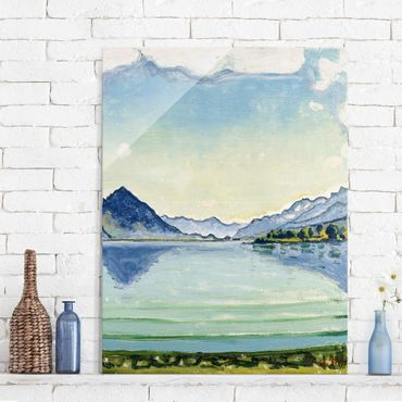 Quadro in vetro - Ferdinand Hodler - Thunersee of Leissigen - Verticale 3:4
