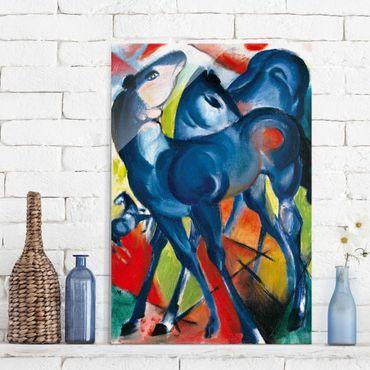 Quadro in vetro - Franz Marc - Puledri Blu - Espressionismo - Verticale 2:3