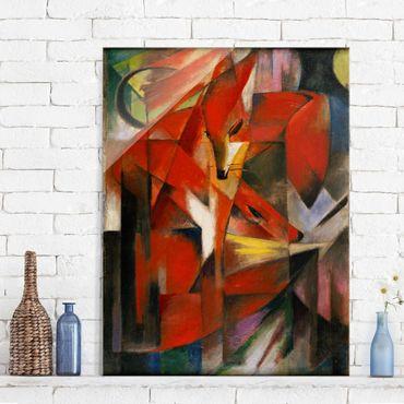 Quadro in vetro - Franz Marc - Le Volpi - Espressionismo - Verticale 3:4