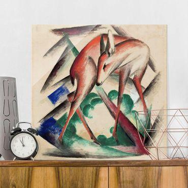 Quadro in vetro - Franz Marc - Capriolo - Espressionismo - Quadrato 1:1