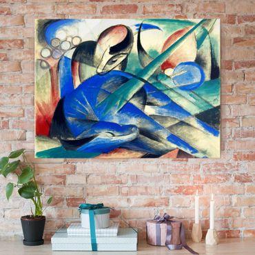 Quadro in vetro - Franz Marc - Un cavallo di sognare - Espressionismo - Orizzontale 4:3
