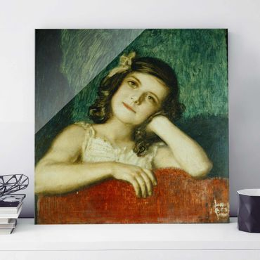Quadro in vetro - Franz von Stuck - Mary, the Daughter of the Artist - Quadrato 1:1