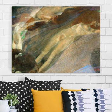 Quadro in vetro - Gustav Klimt - Acqua in Movimento - Art Nouveau - Orizzontale 4:3