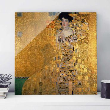 Quadro in vetro - Gustav Klimt - Ritratto di Adele Bloch-Bauer I - Art Nouveau - Quadrato 1:1