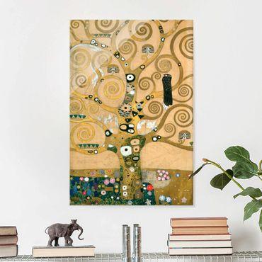 Quadro in vetro - Gustav Klimt - L'Albero della Vita - Art Nouveau - Verticale 2:3