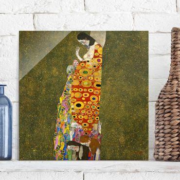 Quadro in vetro - Gustav Klimt - Sperare - Art Nouveau - Quadrato 1:1