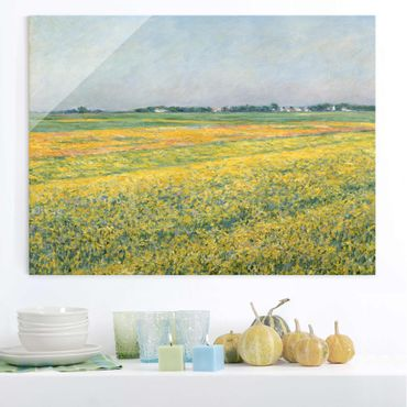 Quadro in vetro - Gustave Caillebotte - The Plain of Gennevilliers, Yellow Fields - Orizzontale 4:3